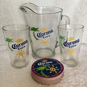 Corona Extra glass pitcher & pint set